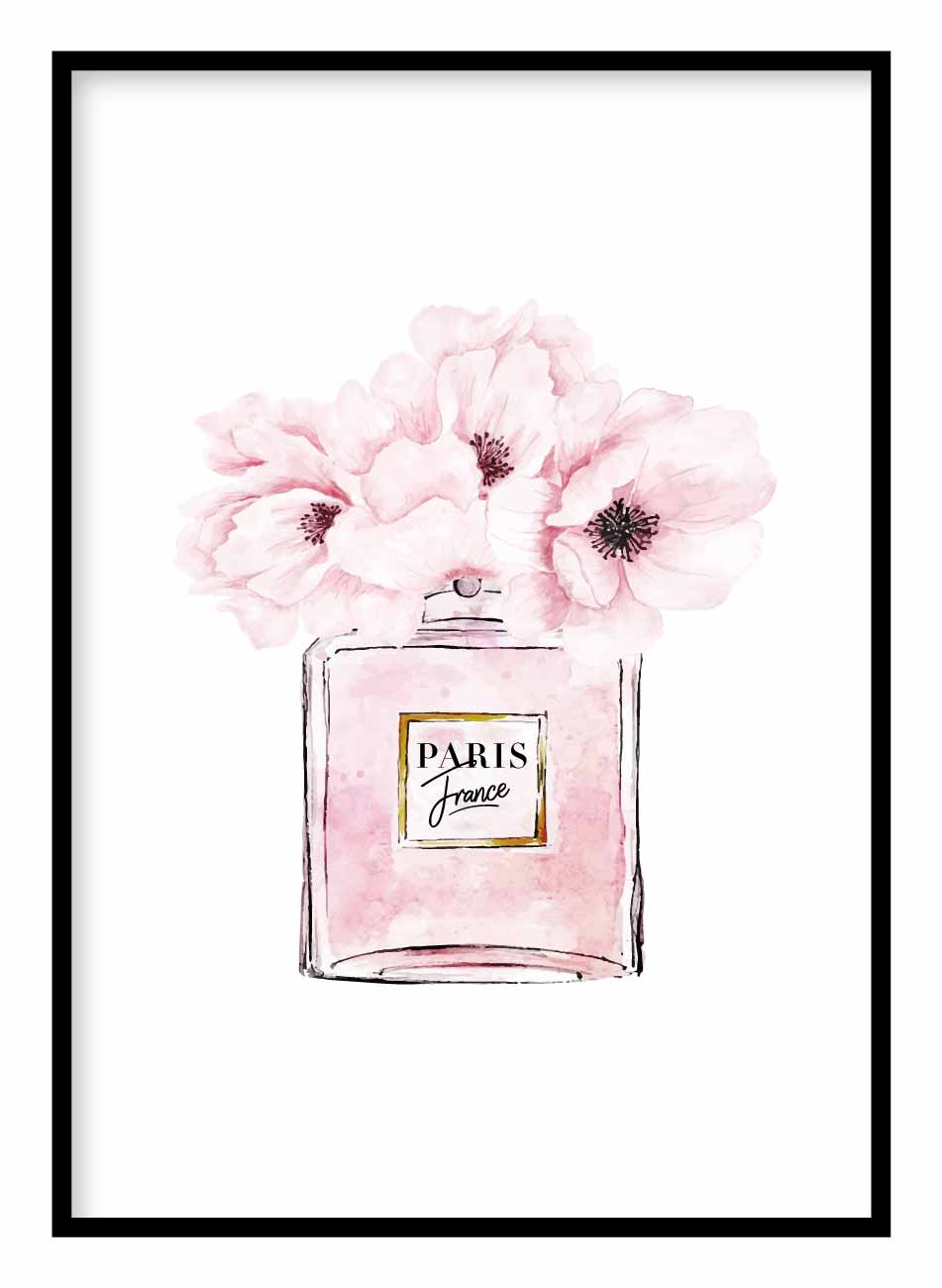 Flowers Perfume Coco Chanel Poster Hidden Prints