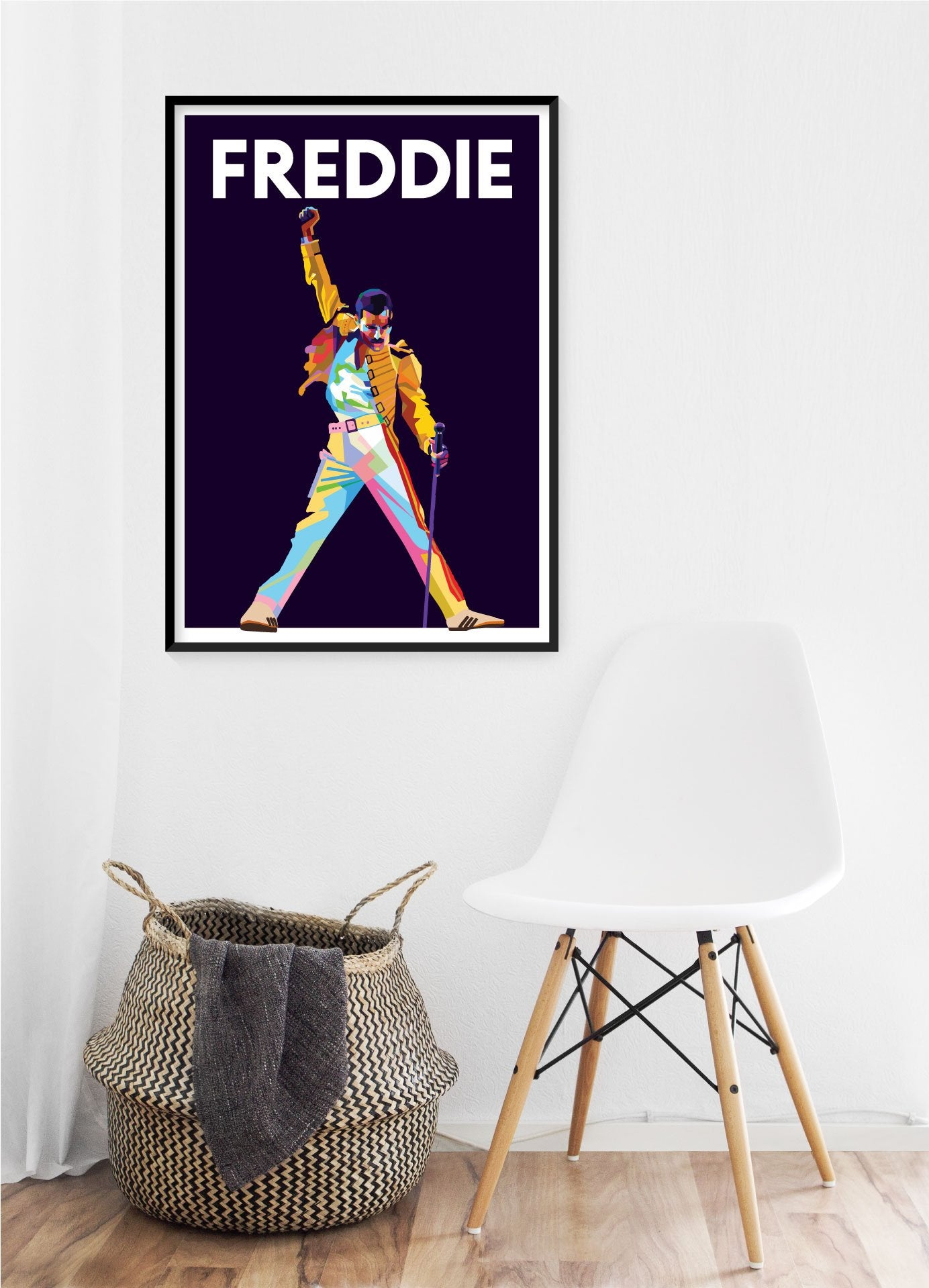 Freddie Mercury Poster A3  A4 Size Music Illustrations With Hardboard In Plastic Bag