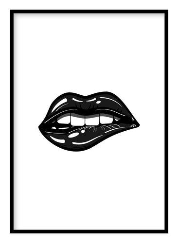 Glossy Lips Poster