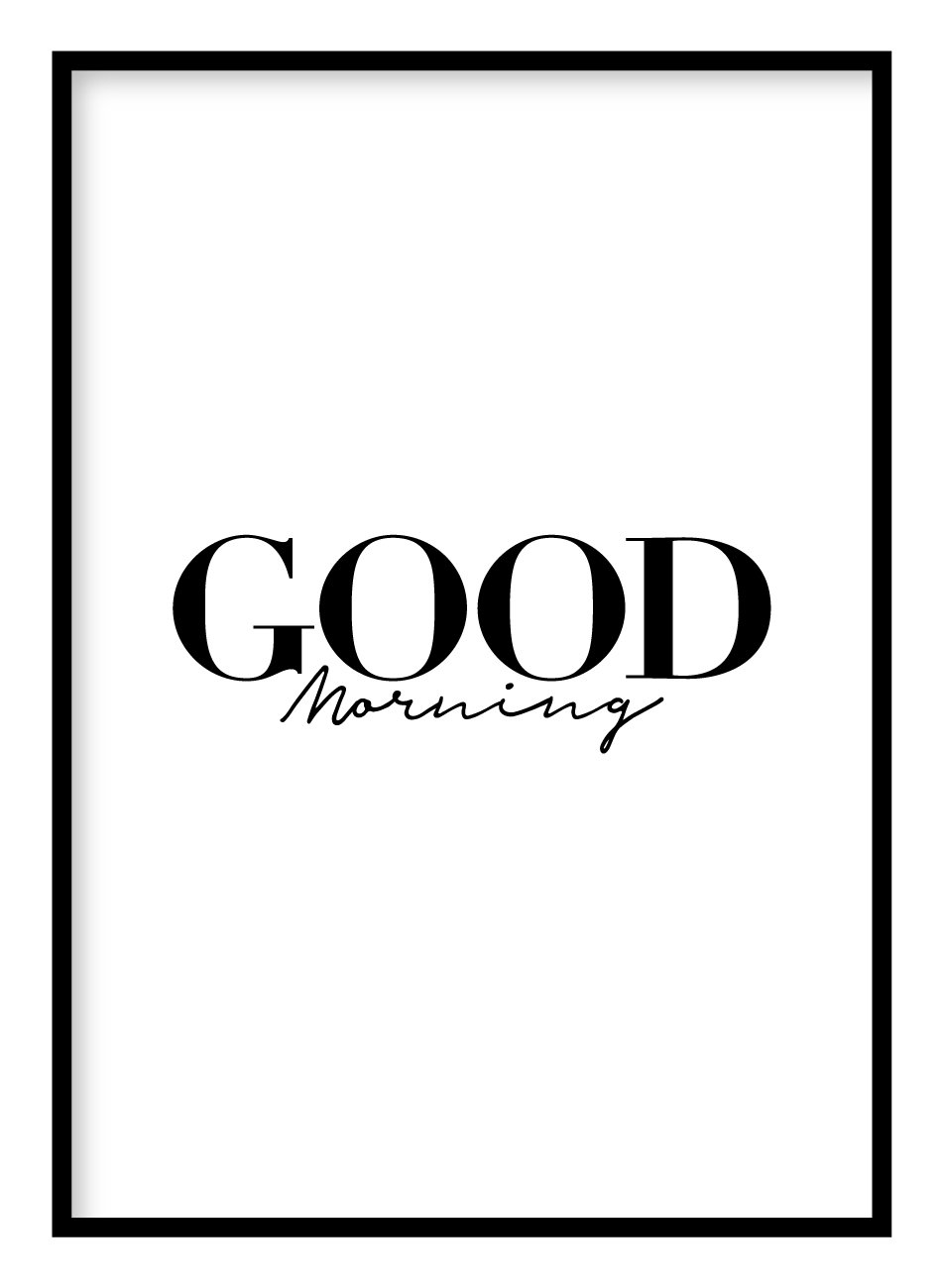 Good Morning Poster Hidden Prints