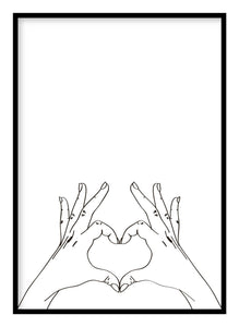 Heart Hands Poster - Hidden Prints
