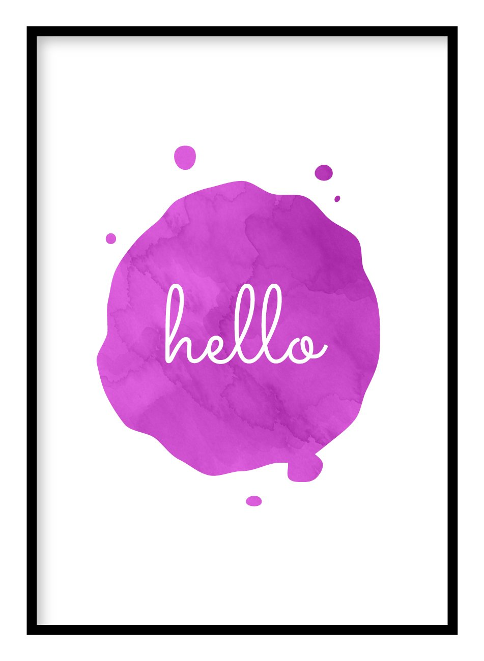 Hello Poster Hidden Prints