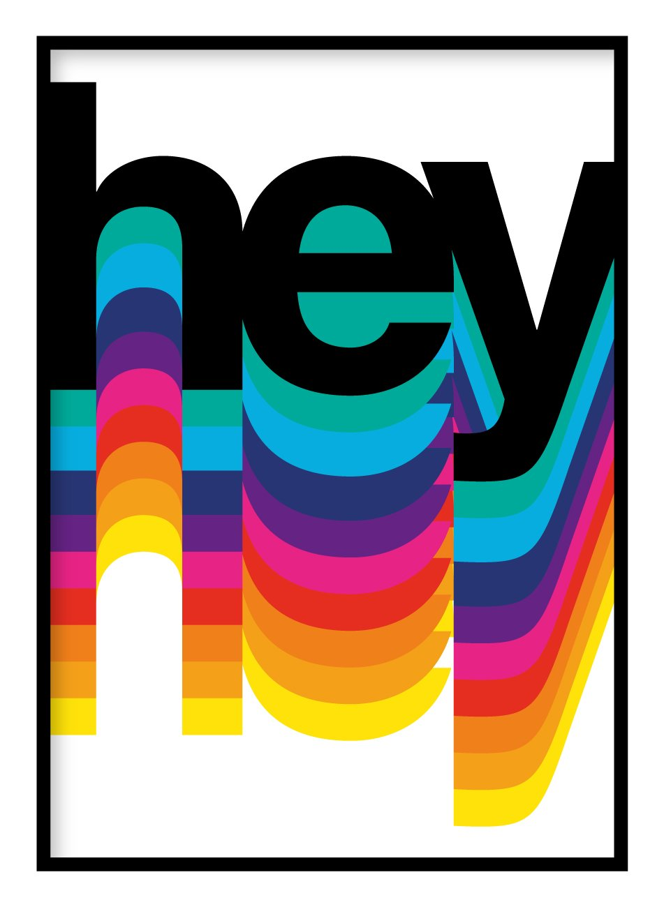 Hey Colours Poster Hidden Prints