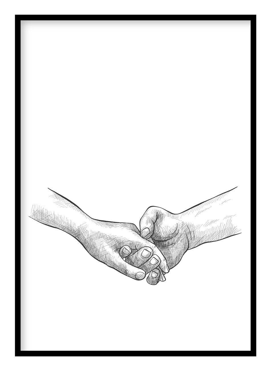 Holding Hand Poster