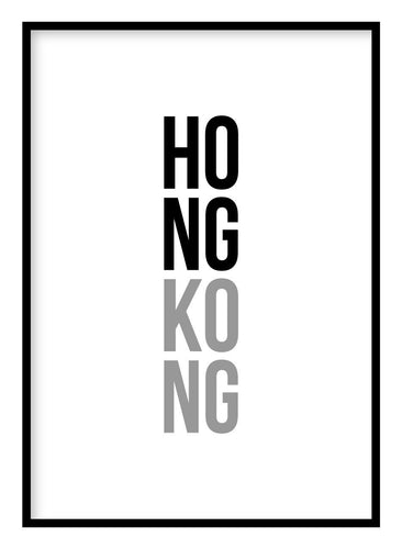 Hong Kong Poster Hidden Prints