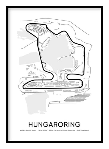 Hungaroring Race Track Poster Hidden Prints
