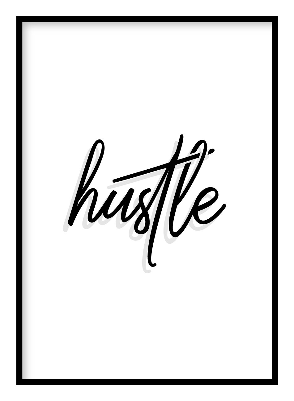 Hustle Poster Hidden Prints