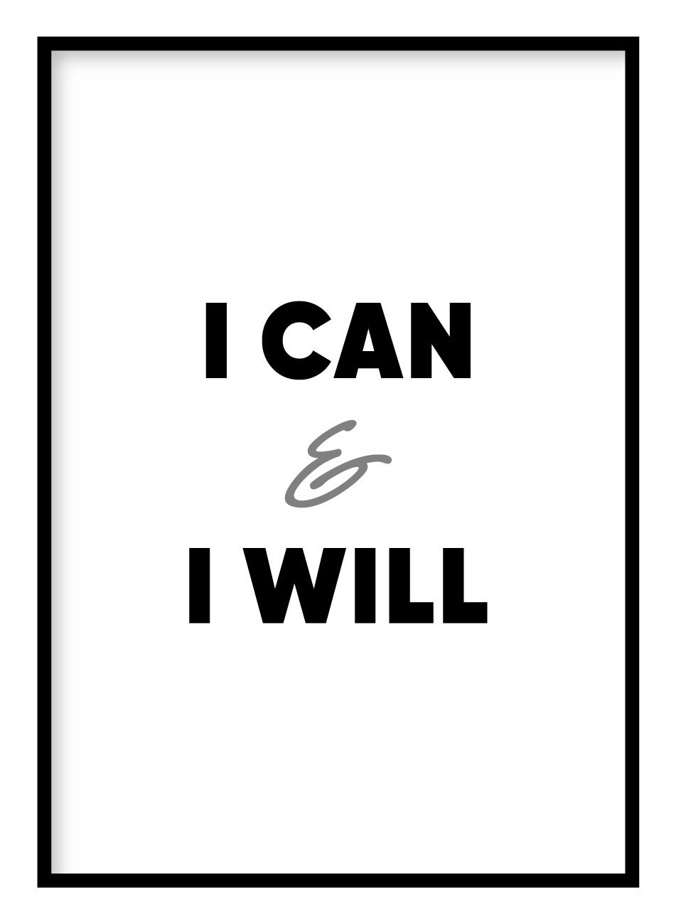 I Can & I Will Poster Hidden Prints