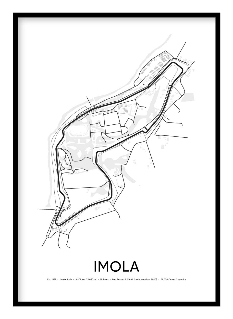 Imola Race Track Poster Hidden Prints