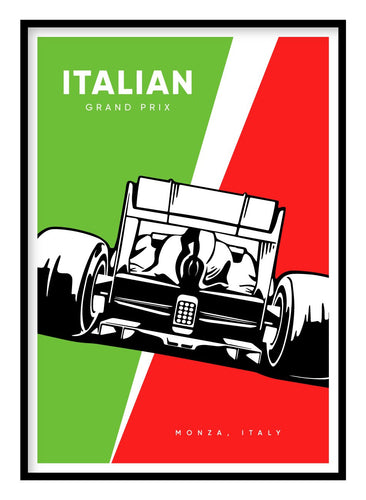 Italian Grand Prix Poster Hidden Prints
