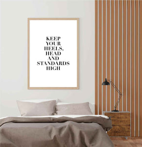 Heels Head & Standards Poster - Hidden Prints