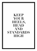 Load image into Gallery viewer, Heels Head & Standards Poster - Hidden Prints