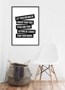 Let Your Dreams Be Poster