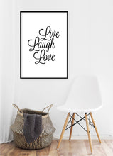 Load image into Gallery viewer, Live Laugh Love Poster - Hidden Prints
