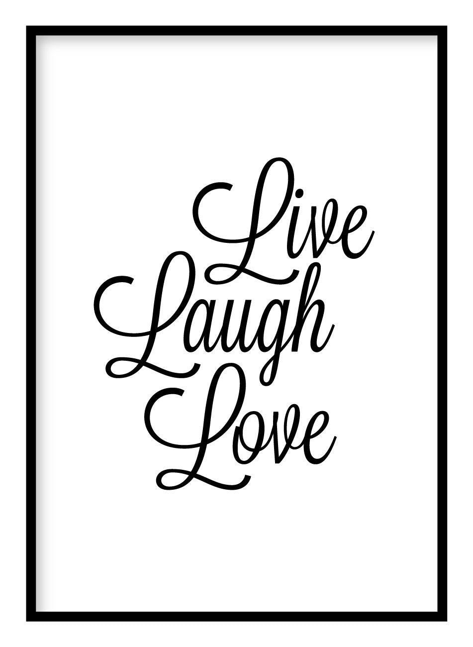 Live Laugh Love Poster Hidden Prints