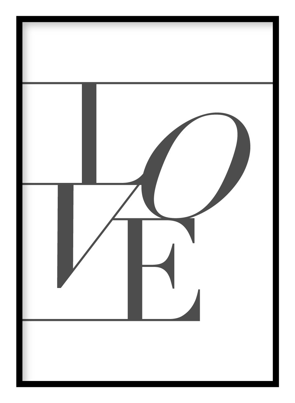 Love Angled Poster Hidden Prints