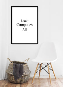 Love Conquers All Poster - Hidden Prints