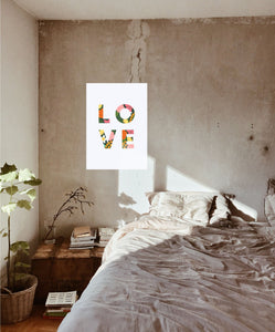 Love Floral Poster
