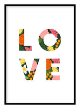 Load image into Gallery viewer, Love Floral Poster - Hidden Prints