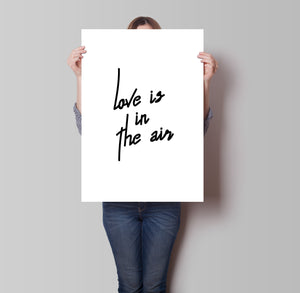 Love Is In The Air Poster - Hidden Prints