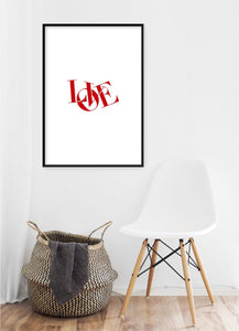 Love Joined Poster - Hidden Prints