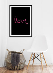 Love Light Poster - Hidden Prints