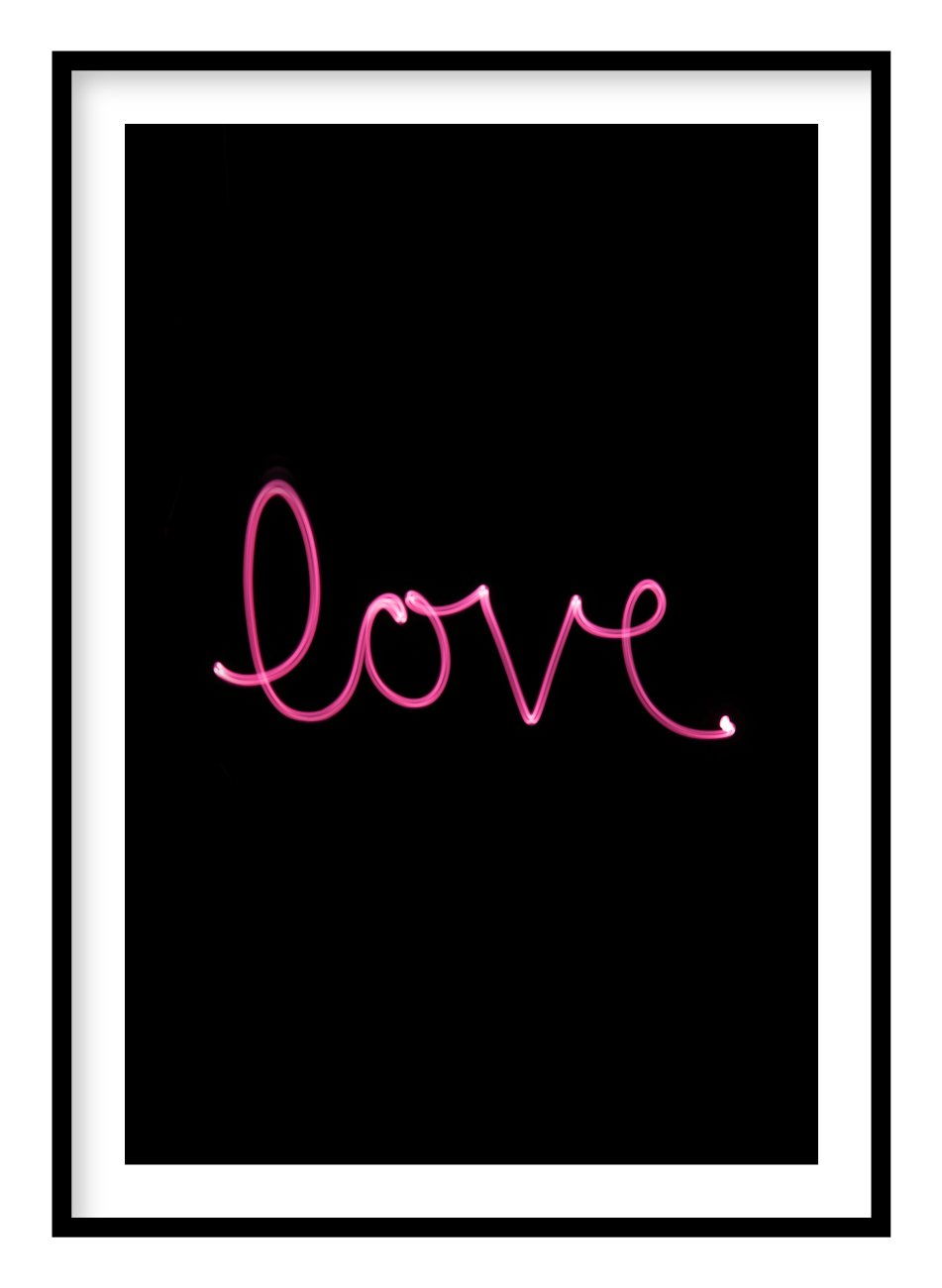 Love Light Poster Hidden Prints