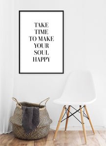 Make Your Soul Happy Poster - Hidden Prints