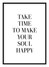 Load image into Gallery viewer, Make Your Soul Happy Poster - Hidden Prints