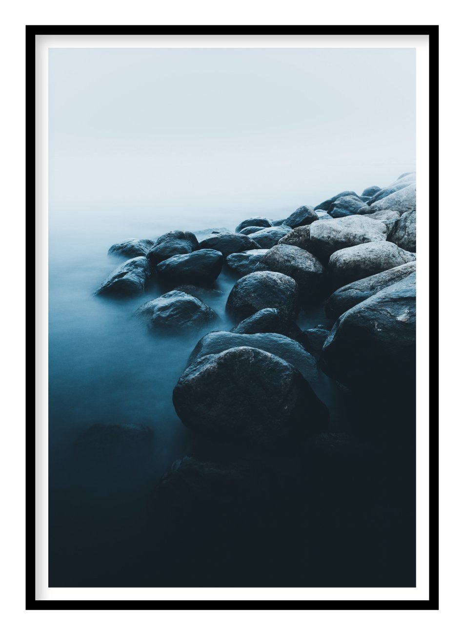 Misty Rocks Poster - Hidden Prints