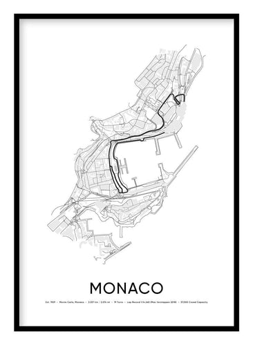 Monaco Race Track Poster Hidden Prints