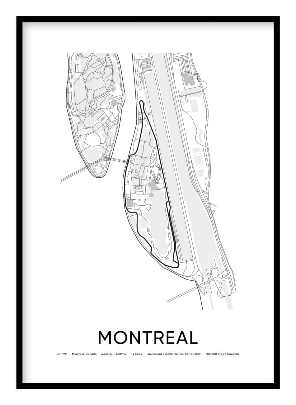 Montreal Race Track Poster Hidden Prints