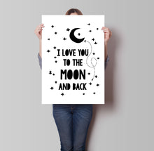 Load image into Gallery viewer, Moon & Back Poster