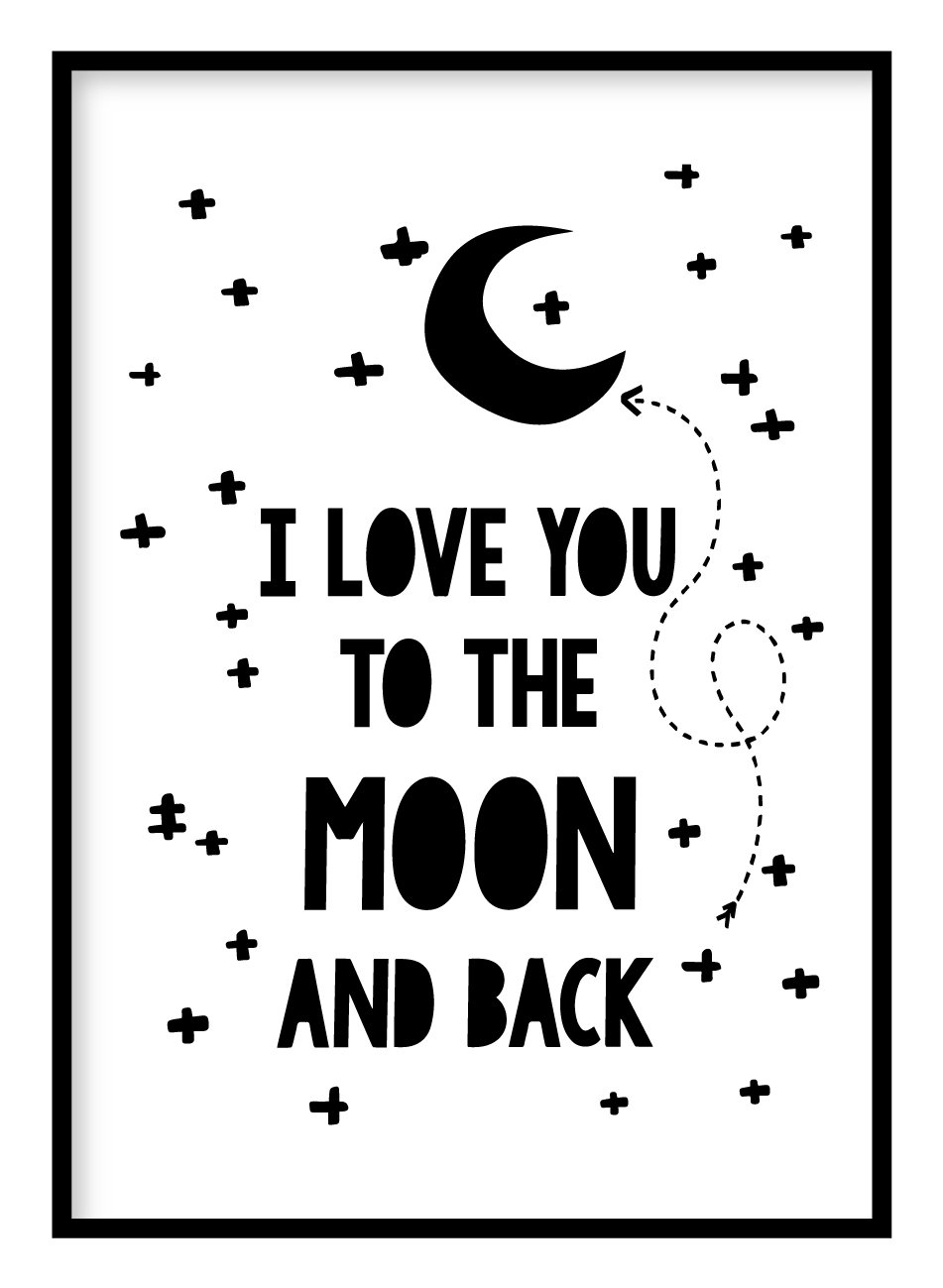 Moon & Back Poster Hidden Prints