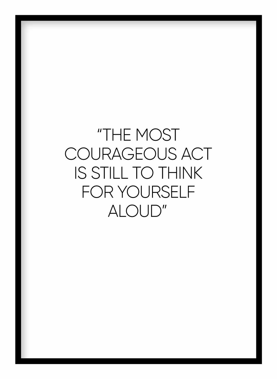 Courageous Act Poster - Hidden Prints