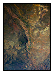 Mountains & Road From Above Poster -