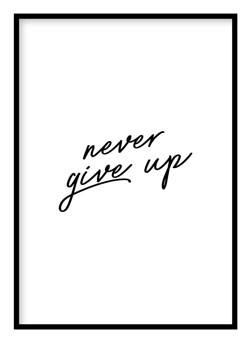 Never Give Up Poster Hidden Prints