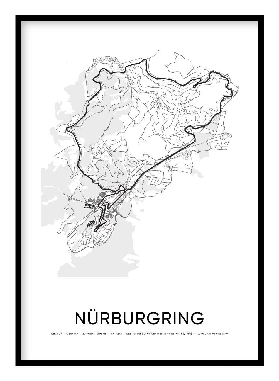 Nurburgring Nordschleife Race Track Poster