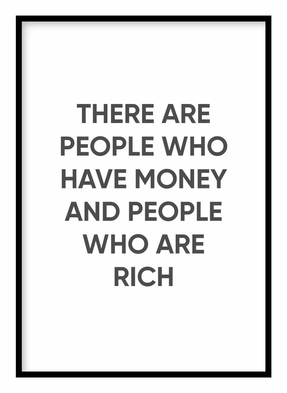 People Who Are Rich Coco Chanel Poster Hidden Prints