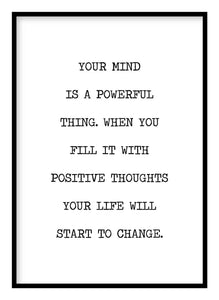 Positive Thoughts Poster