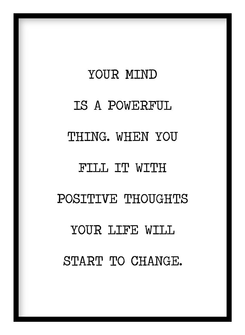 Positive Thoughts Poster Hidden Prints