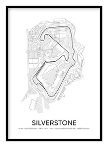 Silverstone Race Track Poster
