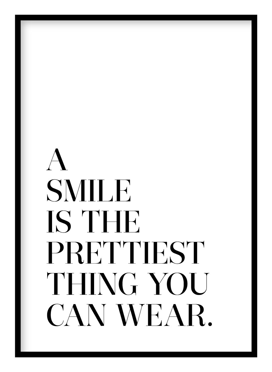 Smile Coco Chanel Poster Hidden Prints