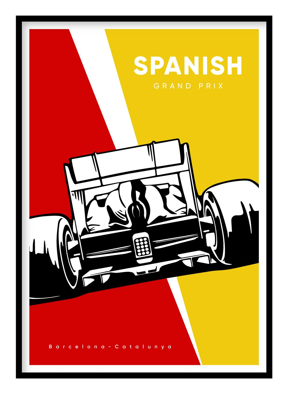 Spanish Grand Prix Poster Hidden Prints