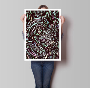 Swirls Poster - Hidden Prints