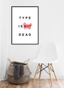 Type Is Dead Poster - Hidden Prints