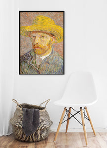 Self-Portrait with a Straw Hat Poster