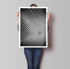 Waves 3D Illusion Poster