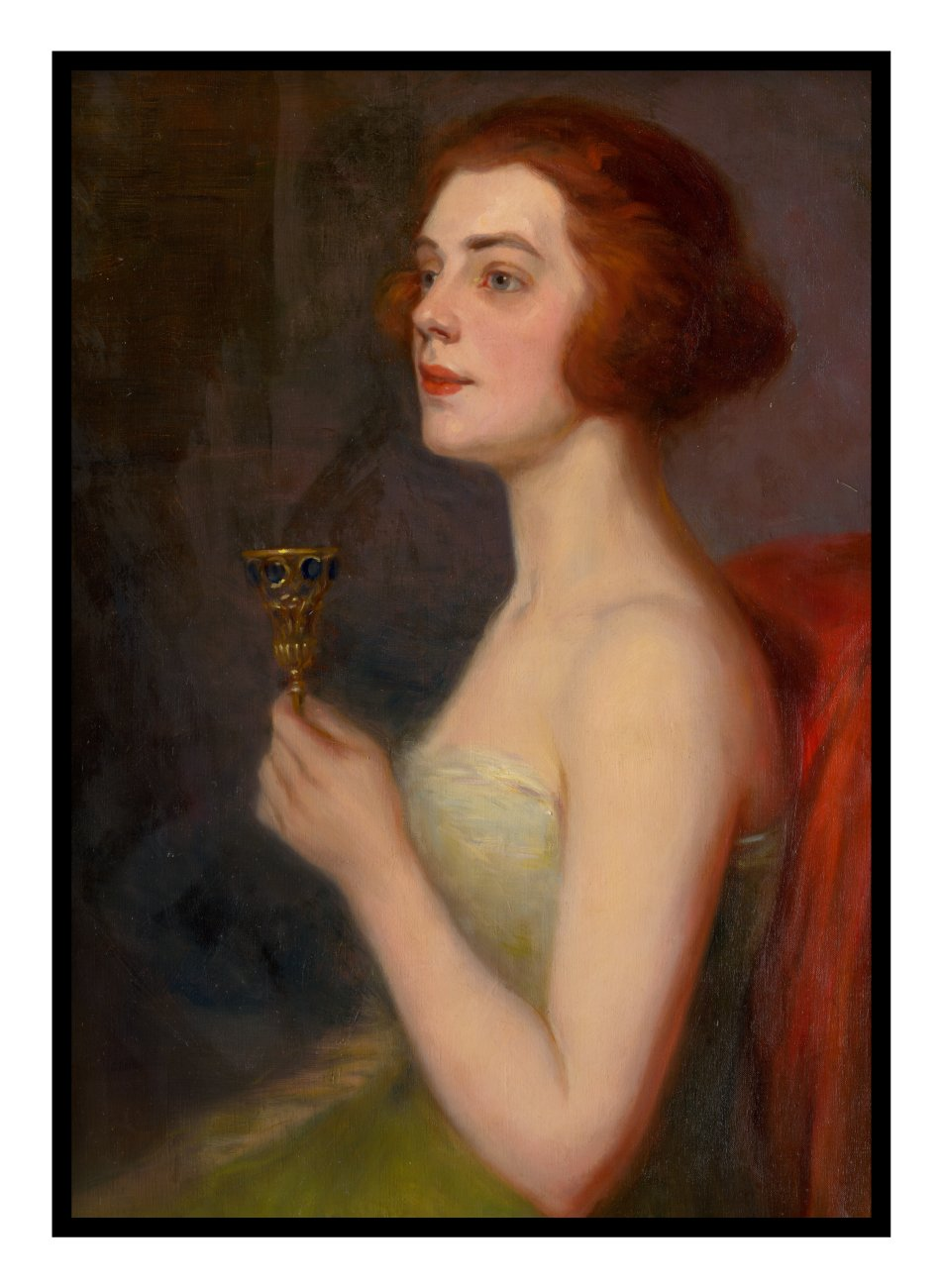Woman With A Goblet Poster