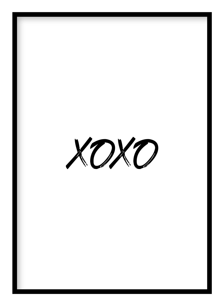 XOXO Poster Hidden Prints